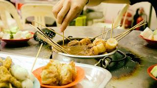 wisata kuliner Melaka - satay celup