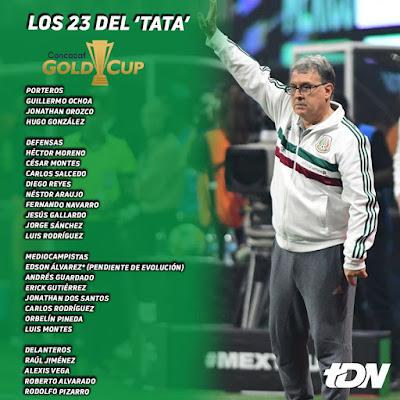 Convocatoria Copa Oro 2019
