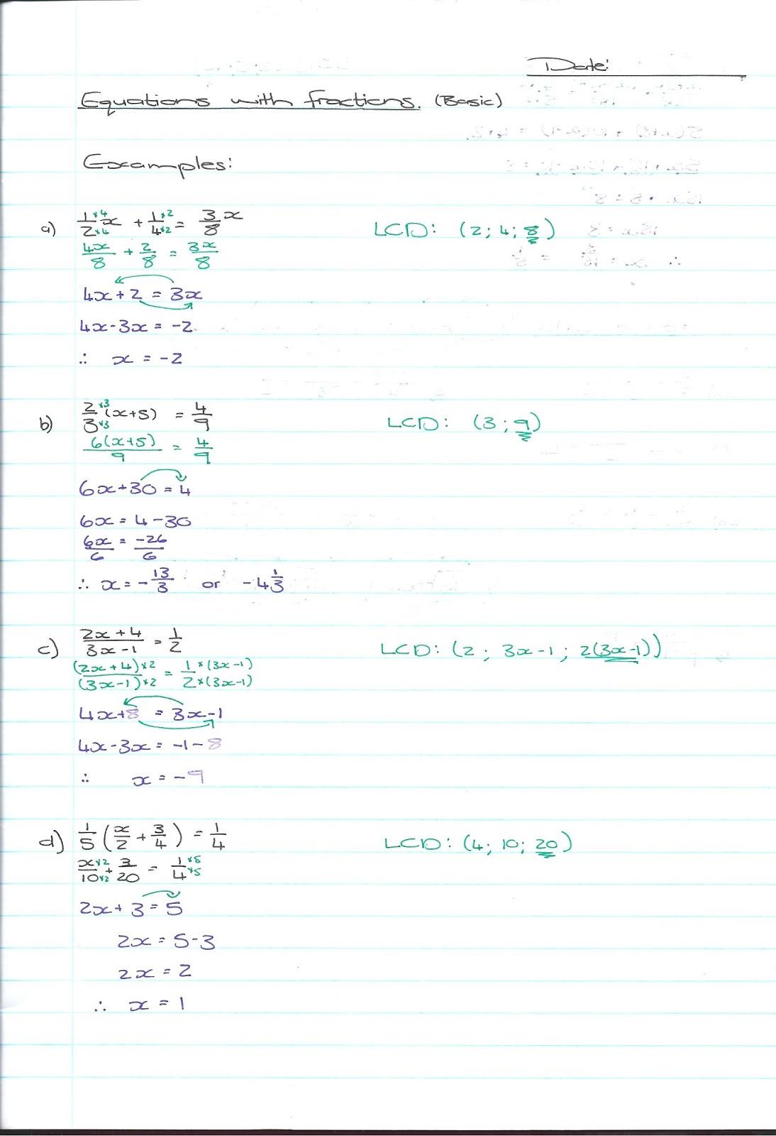 REC Maths