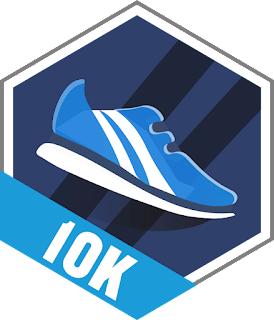 Garmin 10k Achievement Badge