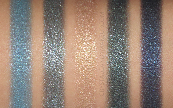 Dior 5 Couleurs Couture Eyeshadow Palette 279 Denim Swatches