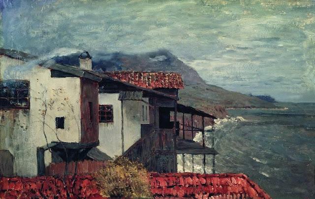 Исаак Ильич Левитан - У берега моря. Италия. 1890