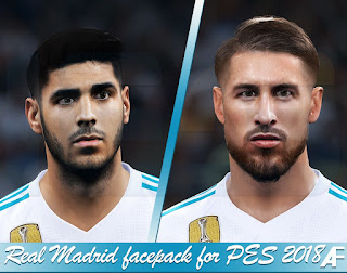 Real Madrid Facepack For PES 2018