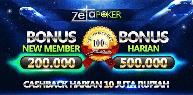 Zetapoker | Bonus Chip 200.000 Deposit 2.000.000 - Poker Terpercaya