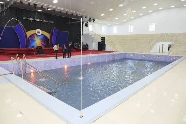 Photos Of Abuja Church Where Pastor Charges ₦50,000 To Swim In Miracle Swimming Pool