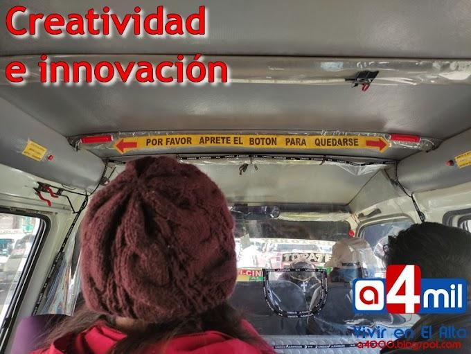 Creatividad: Minibuses alteños con botones para avisar que vamos a bajar del vehículo