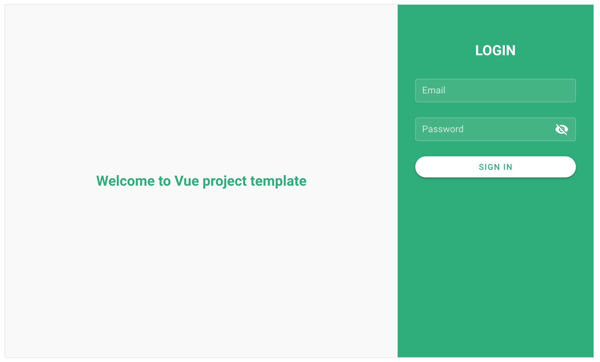 Create a Vuejs login page use Vuetify template and validate with vee-validate
