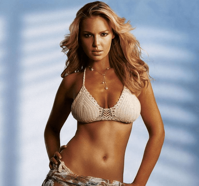 Katherine Marie Heigl American Actress Producer Fashion Model In Bikini HD Wallpaper Images