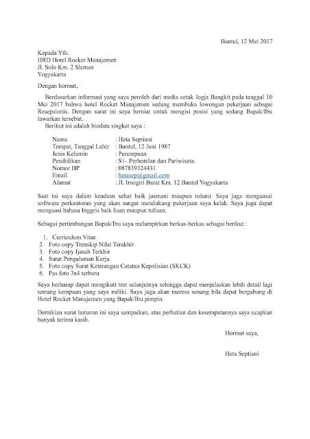 208 Contoh Surat Lamaran Kerja Kembali Ke Perusahaan Lama