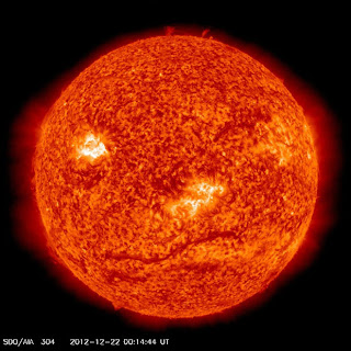 Funniest Picture of 2012? Doomsday Mayan Prophecy Sun wink