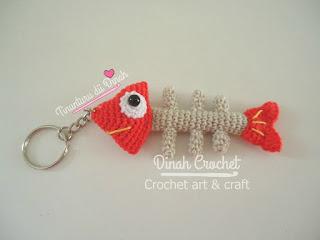 Dinah Crochet: Amigurumi fish bone