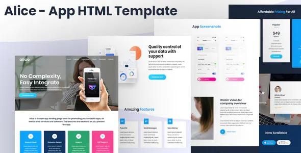 Best App Landing Page HTML Template