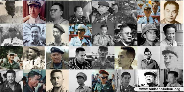 Danh sách tướng lĩnh Việt Nam Cộng hòa