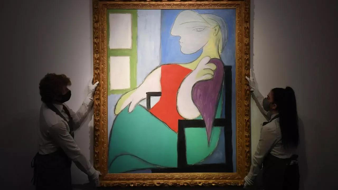 La mujer sentada en la ventana de Pablo Picasso