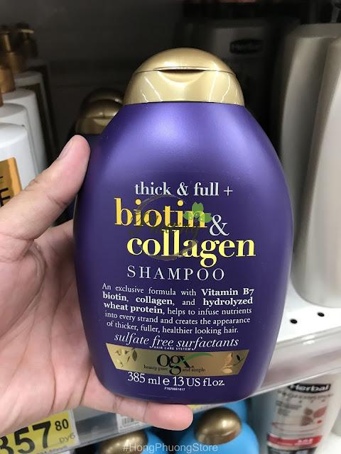 Dầu gội Biotin & Collagen bổ sung Collagen và Biotin cho tóc