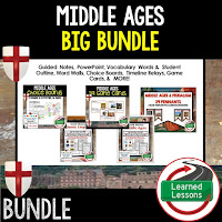 Middle Ages, Ancient World History Mega Bundle, Ancient World History Curriculum, World History Digital Interactive Notebooks, World History Choice Boards, World History Test Prep, World History Guided Notes, World History Word Wall Pennants, World History Game Cards, World History Timelines