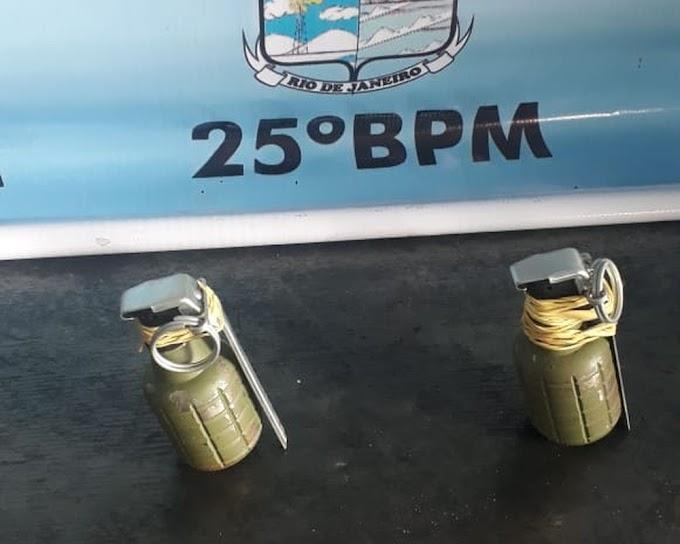 Homem que escondeu granadas em casa foi preso em São Pedro da Aldeia