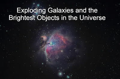Exploding Galaxies and the Brightest Objects in the Universe