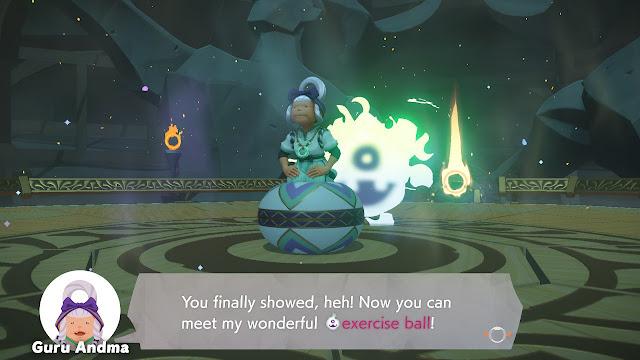 Ring Fit Adventure Guru Andma exercise ball World 5 balance