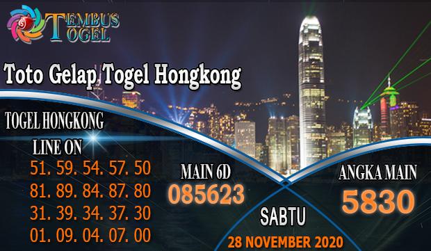Toto Gelap Togel Hongkong Hari Sabtu 28 November 2020