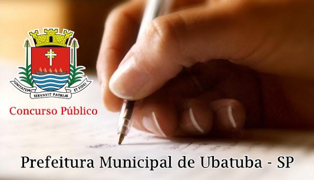 edital concurso prefeitura de Ubatuba 2017