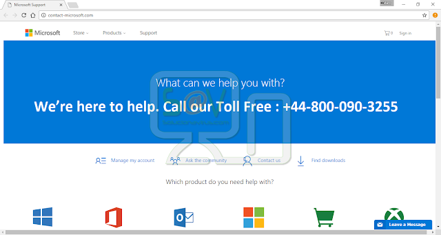 Contact-microsoft.com pop-ups (Falso soporte)