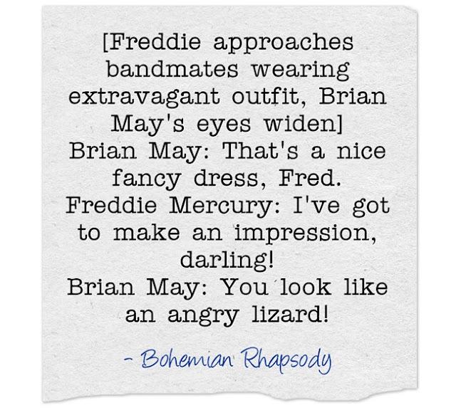 Freddie Mercury quotes Bohemian Rhapsody