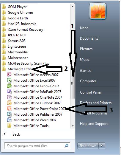 Bagian Bagian Microsoft Powerpoint 2010 : bagian, microsoft, powerpoint, Mudah, Belajar, Microsoft, Power, Point, Pemula, BELAJAR