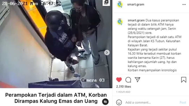Bermodal Pisau, Pria ini Jumawa Todong Seorang Wanita di Dalam ATM, Cuma Bisa Meringis Kesakitan!