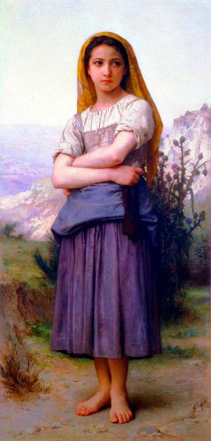 Адольф Вильям Бугро - Пастушка (1884)