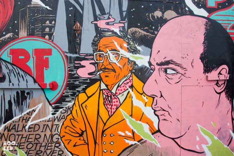 London street art - Broken Fingaz Crew Mural