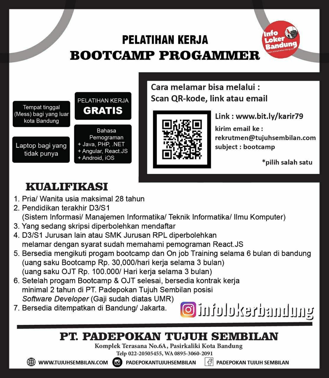 Lowongan Kerja PT. Padepokan Tujuh Sembilan Bandung Maret 2020