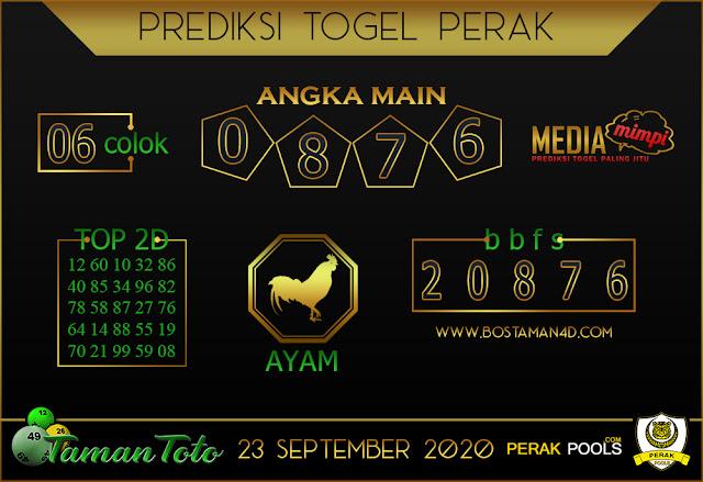 Prediksi Togel PERAK TAMAN TOTO 23 SEPTEMBER 2020