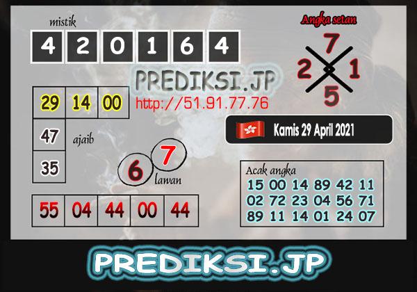 Prediksi JP HK Kamis 29 April 2021