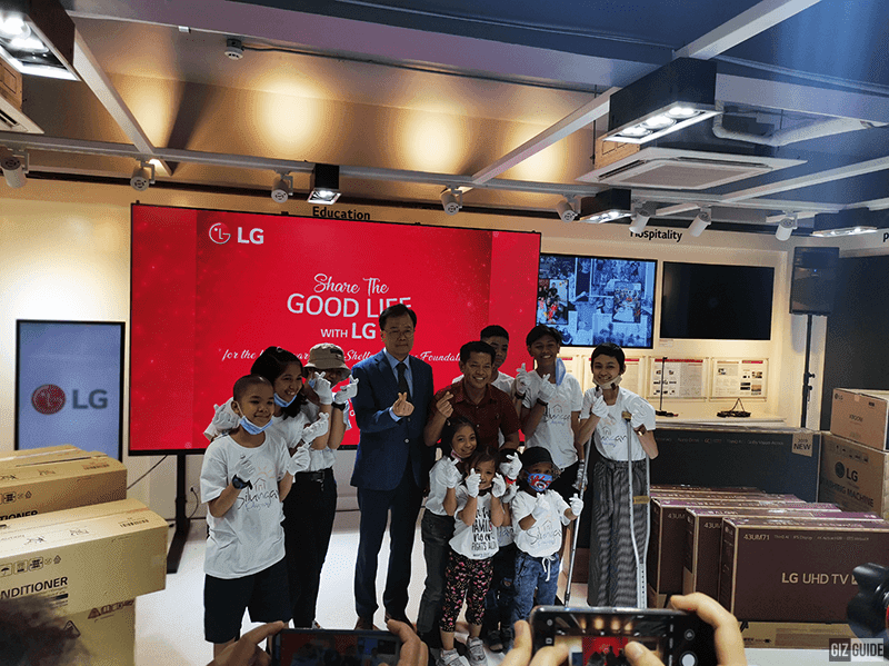 LG Philippines fullfilled its pledge to  Shellter of Hope, turning over 1M PHP worth of appliances