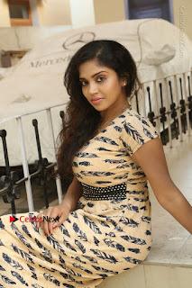 Telugu Actress Karunya Chowdary Stills in Short Dress at ATM Not Working Press Meet  0200.jpg