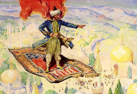 fiabe in analisi (dentro la fiaba): il tappeto volante: volo da fiaba!
