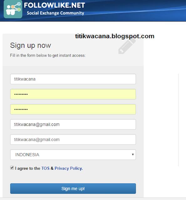 Register Followlike.net
