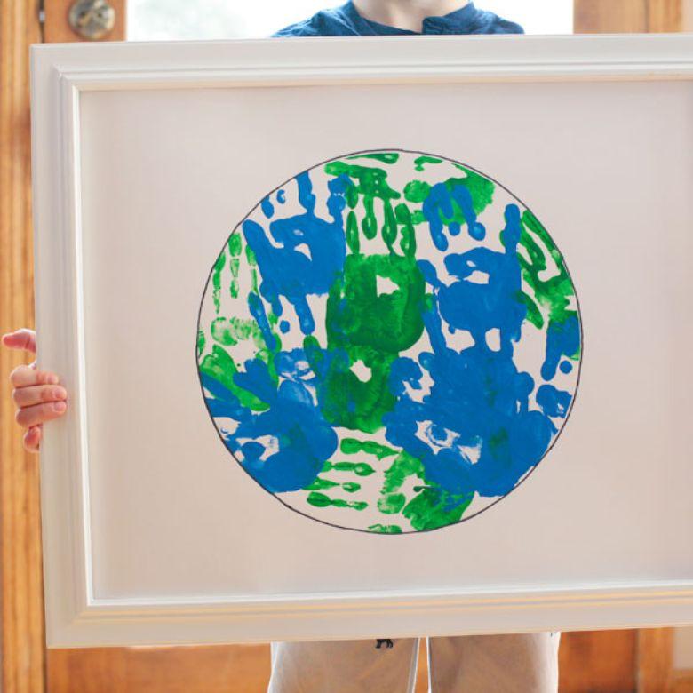 Earth day handprint art