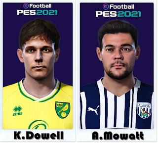 PES 2021 Faces Kieran Dowell & Alex Mowatt by Shaft
