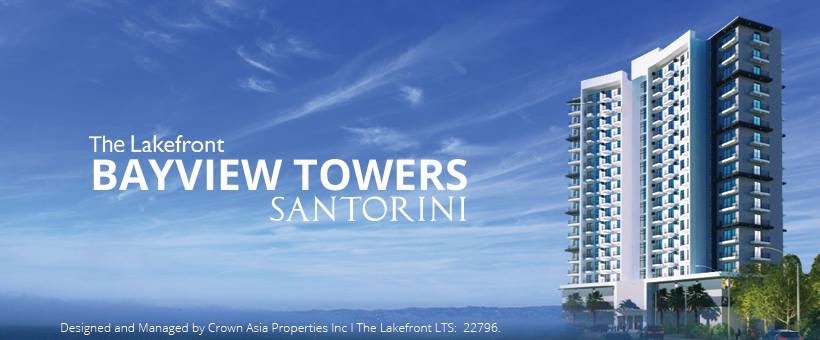 The Lakefront Santorini - Citipad Premium 1-Bedroom| Crown Asia Prime Condominium for Sale in Sucat