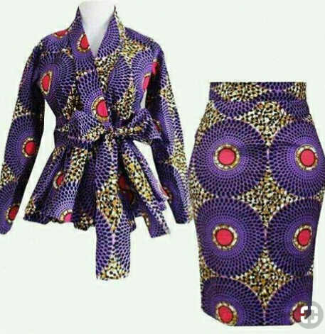 ankara skirt and jacket for breastfeeding moms