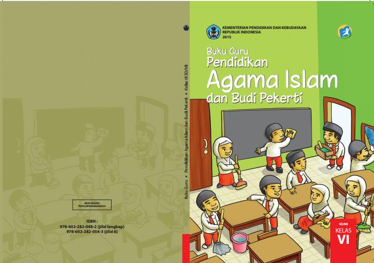 Download Gratis Buku Guru Pendidikan Agama Islam dan Budi Pekerti Kelas 6 SD Kurikulum 2013 Format PDF