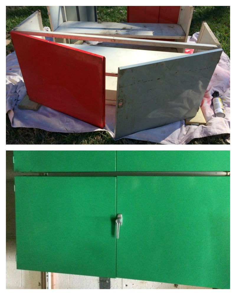 Upcycled Kitchen Cabinets: Real Girl's Realm: Upcycled Metal Cabinets