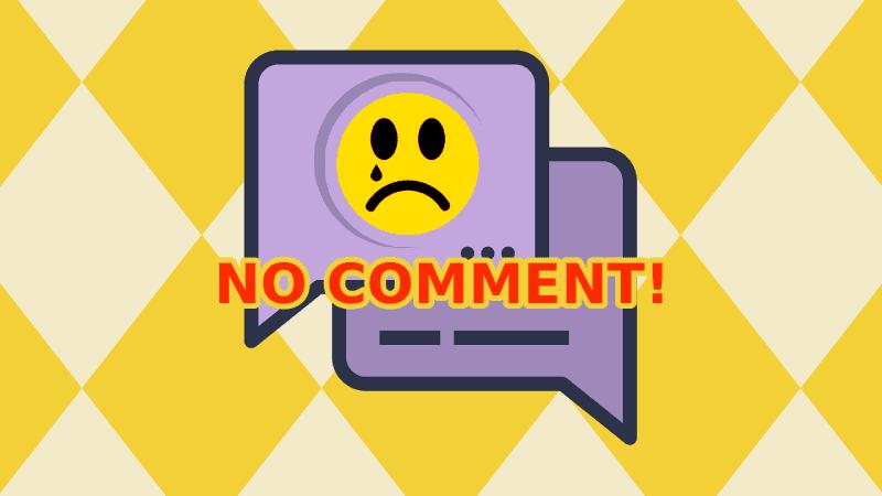 Alasan saya menutup kolom komentar blog
