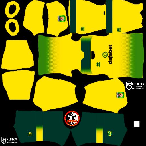 Kits Norwich City - Dream League Soccer 2021