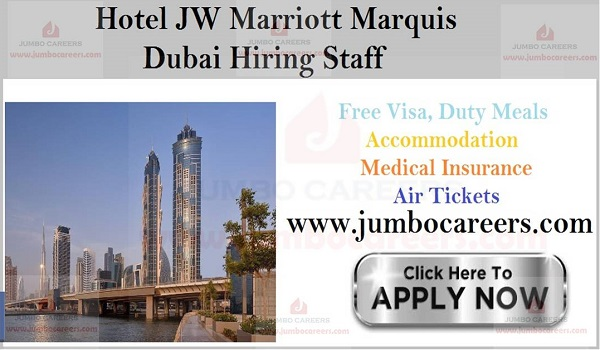 Jobs in Dubai with free visa and air ticket , Current hotel jobs in UAE,
