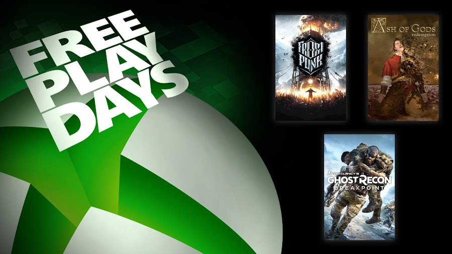 ash of gods redemption frostpunk ghost recon breakpoint xbox live gold free play days event