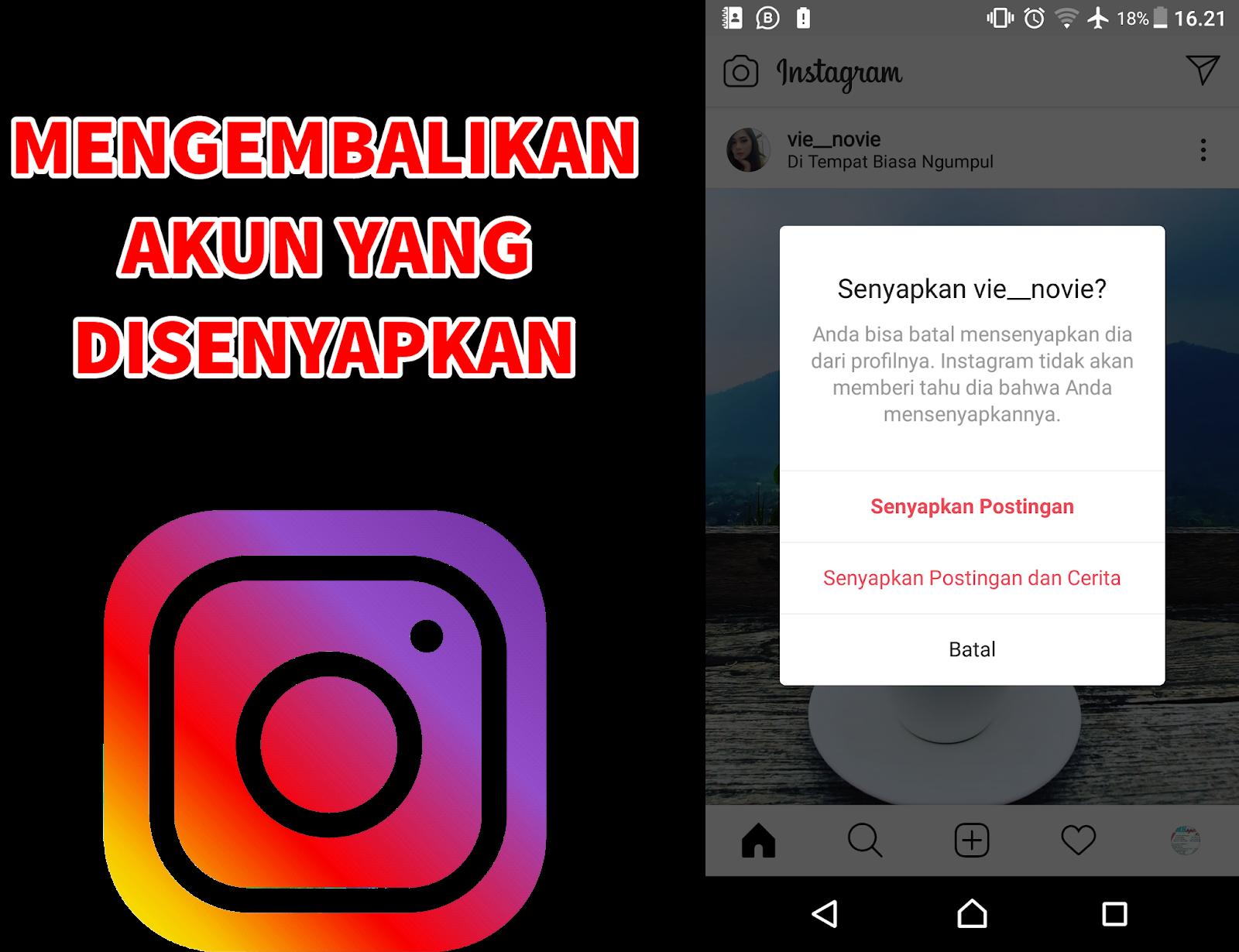 cara mengembalikan postingan dan cerita