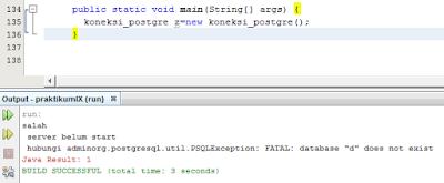 Kelas Informatika - Error Koneksi Database PostgreSQL